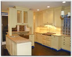 Kitchen Dark Floor Light Cabinets Home Design Ideas