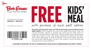 Bob Evans FREE Kids Meal Coupon: Valid Labor Day Weekend ... 25 Off Bob Evans Fathers Day Coupon2019 Discount Tire Store Wichita Falls Tx The Onic Nz Coupon Code Tony Robbins Mastering Influence Promo Fansedge Coupons 80 Boost Mobile Coupons Promo Codes 8 Cash Back Grabbens Twitter Where To Buy Bob Evans Usage 2018 Discounts Printable For July 2019 Journal Sentinel Pinned March 19th Second Entree 50 Off Second Breakfast October Aventura Clothing Bobevans Com Feedback Viago Discount A Kids Meal