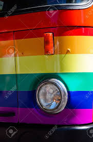 100 Gay Truck Detail Of A Painted With The Rainbow Colors In Pride