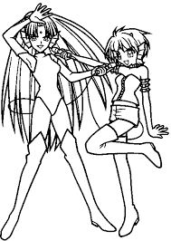 Coloring Page Mermaid Melody Pichi Pitch Cartoons 46