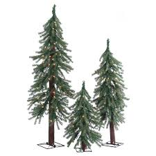 Unlit Artificial Christmas Trees Sears by Set Of 3 Christmas Trees Christmas Decor Ideas