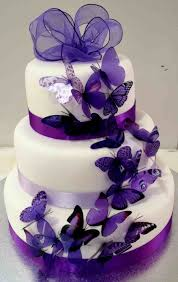 Of Party Bling Cake With Purple And Black Wedding Cakes Wisteria