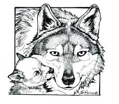 Coloring Pages Of Wolves With Wings Page Press