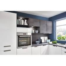 winkelküche uv lack weiß hochglanz beton grau 275 x 275 cm