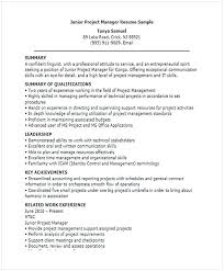 Junior Project Manager Resume For Position Many Of Us Interested In Being If You Are The One We Kindly Suggest Read This