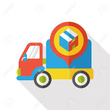 100 Commercial Truck Gps GPS Flat Icon Royalty Free Cliparts Vectors And Stock