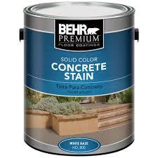 Home Depot Bathtub Paint by Behr Premium 1 Gal Deep Base Solid Color Concrete Stain 83001