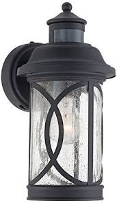 bellagio 16 1 2 h black arm led outdoor light style 6y091