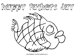 Happy Fathers Day Fish Coloring Page