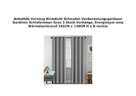 Schlafzimmer Vorhã Nge Bellahills Vorhang Blickdicht Schlaufen