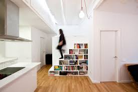 InteriorClassy White Staircase Bookshelves Design With Wall Paint Decor Ideas Classy