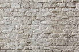 Old White Dark Brick Effect Wall Mural