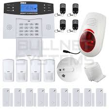kit alarme maison sans fil gsm avec sirène extérieure et détecteur