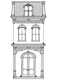 Click To See Printable Version Of Victorian Row House Coloring Page