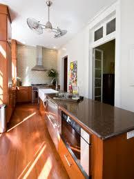 precious narrow kitchen designs interior designs for long and