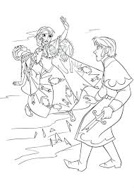 Princess Coloring Pages Frozen Anna