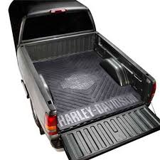 harley davidson logoed heavy duty rubber mats have your truck bed