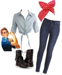 Rosie The Riveter Halloween Tutorial by For My Rosie The Riveter Halloween Costume Fashion Pinterest