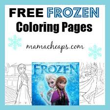 FREE Frozen Printable Coloring Pages Anna Elsa Olaf And MORE