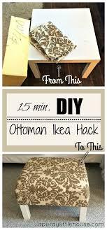 diy ottoman coffee table ikea hack a purdy house