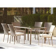 Wayfair Dining Room Chair Cushions by Amazon Com Marathon 7 Piece Dining Set With Cushion By Three