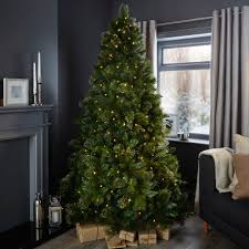 Pre Lit Christmas Trees On Sale by 7ft Cleveland Pre Lit Christmas Tree Departments Diy At B U0026q