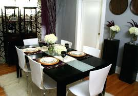 Decorating The Dining Room Image Of Small Ideas Black And White