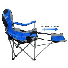 GigaTent Ergonomic Portable Footrest Camping Chair (Blue ... Camping Chairs Folding Recling Sco Padded Chair 14993ant4 Crafty Beaver Guide Gear Oversized Club Camp 500lb Capacity Rent Fruitwood Wivory Seat Best Lawn Reviews Which Of These 7 Will Premium 2 Thick Fabric By National Public Seating 3200 Series Top 10 2019 Boot Bomb Phi Villa Patio 3 Pc Set For Big Outdoor Ideas Home Decor By Coppercreekgroup Bag