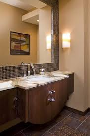 Brown Mosaic Bathroom Mirror by How To Frame A Bathroom Mirror With Mosaic Tile Bathroom Mirrors
