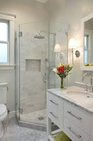 san francisco neo angle shower bathroom transitional with bridge