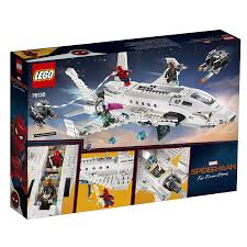 100 Lego Space Home LEGO Marvel SpiderMan Far From Stark Jet And The Drone Attack 76130 Building Kit New 2019 504 Pieces