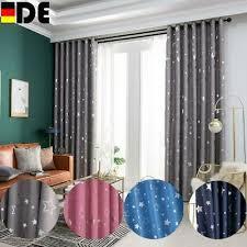 sterne ösen vorhang verdunkelungsvorhänge gardinen für