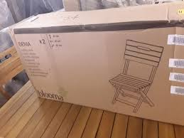 Lot 268: BOXED DENIA WOODEN FOLDING CHAIR TWIN PACK RRP ...