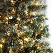 Puleo Christmas Tree Replacement Bulbs by 7 Ft Pre Lit Hard Needle Deluxe Cashmere Pine Christmas Tree By