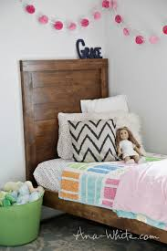 Ana White Headboard Twin by Ana White Simple Planked Wood Bed Diy Projects