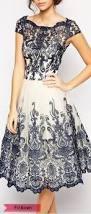 color block short sleeve fit flare dress stylish