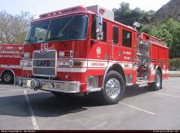 100 Pierce Trucks Arrow XT Pumper Los Angeles Fire Department Emergency