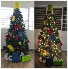 Baby Food Jars On Top To Look Like Big Legos Then She Used A Cookie Can With Tissue Paper Pinata For The Tree Topper Too Fun Kids