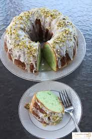 Pistachio Pudding Bundt Cake with White Chocolate Chips – Moist