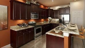 Orange And Brown Kitchen Decor