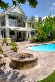Pea Gravel Patio Plans by Concrete Overlay And Resurfacing For Your Driveway In Houston