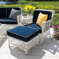 Outdoor Deep Seating Sectional Sofa by Everglades 7 Piece White Resin Wicker Patio Deep Seating Set By