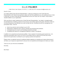 Front Desk Cover Letter Hotel by Best Guest Service Representative Cover Letter Examples Livecareer