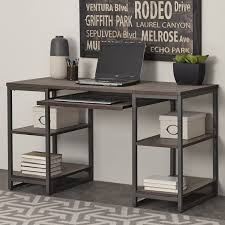 Glass And Metal Computer Desk With Drawers by Glass Top Desk With Drawers Wood And Metal Corner Desk Best