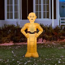 Disney Halloween Airblown Inflatables by Star Wars 4 5 U0027 Tall Star Wars C3po Halloween Airblown Inflatable