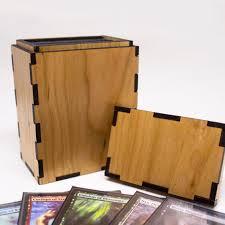 Mtg Deck Testing Online by Magic The Gathering Deck Box Wooden Tcg Deck Box U2013 Lacer U0027s Edge