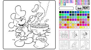 Mickey Mouse Coloring Page Game