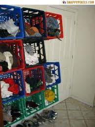 Diy Milk Crate Shelves For Used Crates Pictures Snappy Pixels Bookshelf