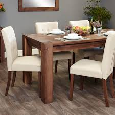 Shiro Walnut 68 Seat Table And 6 Cream Chairs Was £137900 Now