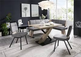eckbank moderne eckbankgruppe duo 4 san remo sand dekor set 4 teilig umstellbar mit säulentisch und